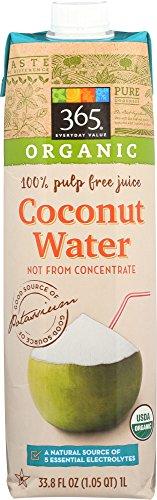 365 Everyday Value Organic Coconut Water, 33.8 Fl Oz