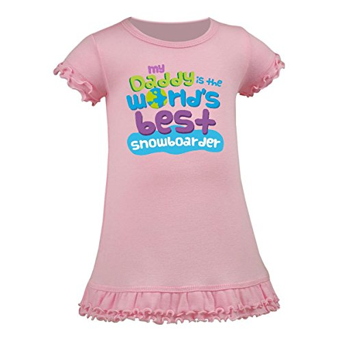 Inktastic - My Daddy is the World's Best Snowboarder Toddler Dress 4T - Snowboarders Best