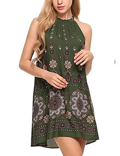 Abiti Gr Maniche Stampato Da Off Donna Abito Beach Spalla Moda Mini Elegante Casual Corto Vintage Abbigliamento Dress Sera Senza yOm8wNnv0