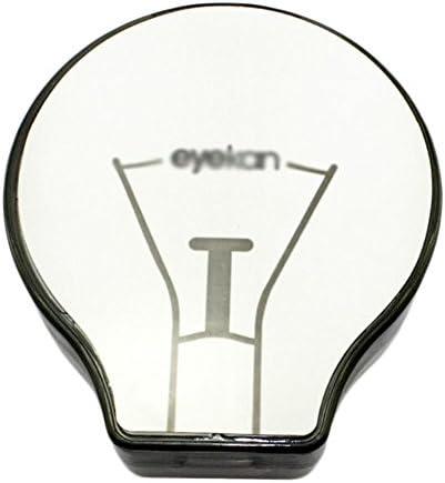 ファッションクリエイティブ電球形コンタクトレンズケース - 黒
