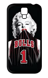Season.C Chicago Bulls Marilyn Monroe Protective Hard Back Case Cover for Samsung Galaxy S4 i9500