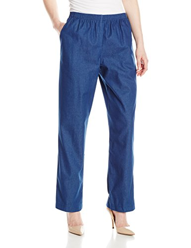 Alfred Dunner Womens Petite Average Denim Jean Pant