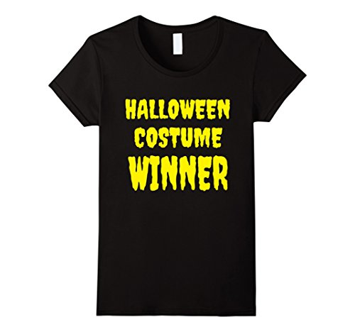 Costume Winner Party (Womens Halloween Costume Winner TShirt School Family Party Patch Medium)