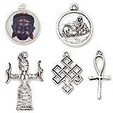 Blue Moon Beads Tokens Metal Charm (5 Per Package) - Antique Silver Spiritual B