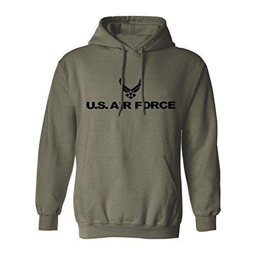 Air Force Hoodie Sweatshirt (Air Force Hooded Sweatshirt in Military Green - Small)