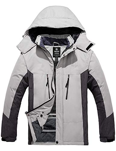 Wantdo Men's Mountain Skiing Jacket Fleece Snowboarding Jackets Waterproof Winter Snow Coat Windproof Raincoat