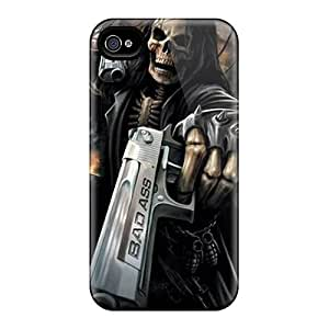 Fashion LhM1617imUd Case Cover For Iphone 4/4s(grim Reaper)