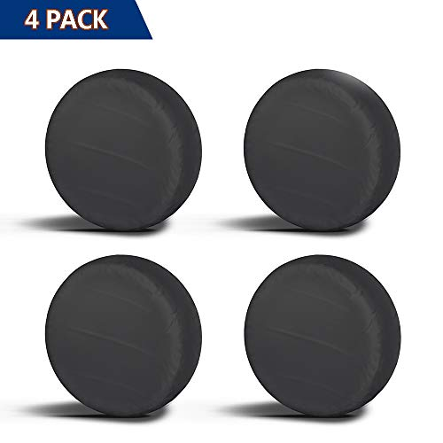 Aebitsry Tire Covers for RV Wheel, (4 Pack) Motorhome Wheel Covers Waterproof Oxford Sun UV Tires Protector for Trailer, Camper, Van, SUV, Auto, Universal Fits 27 to 32 Car Tire Diameter (27 - 29)