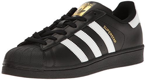 adidas Originals Women's Shoes | Superstar Fashion Sneakers, Black/White/Metallic/Gold, (6 M - And Gold Black Original