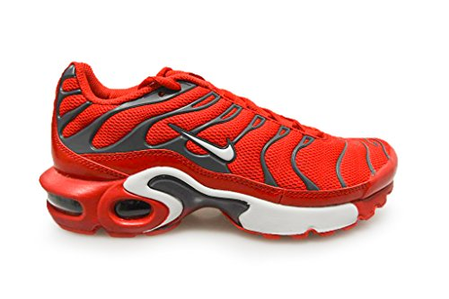 Nike Air Max Plus TN (GS) Jugend Sneaker Universität Rot Pure Platinum 601