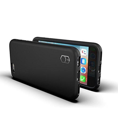 PATCHWORKS ITG Level Case in Black Compatible for iPhone 6 / 6s Case Military Grade Extreme Drop Protection Shockproof Full Protective Anti-Scratch Resistant Heavy Duty Case