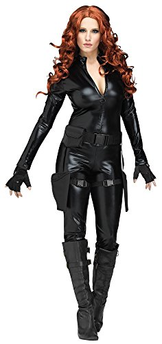 [Adult Midnight Ops Costume - Secret Agent - Black Widow - Large (12-14)] (Secret Agent Woman Costume)