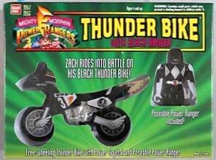 Thunder Bike with Black Ranger Mighty Morphin Power Rangers
