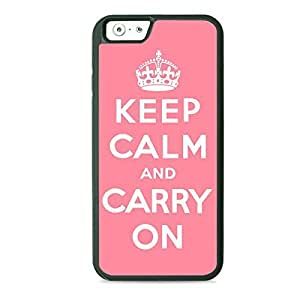 Case Fun Case Fun Pink Keep Calm and Carry On TPU Rubber Back Case Cover for Apple iPhone 6 4.7 inch hjbrhga1544