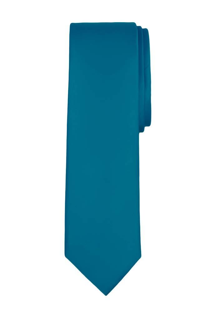 Jacob Alexander Boy's Regular Self Tie Prep Solid Color Necktie - Pacific Blue