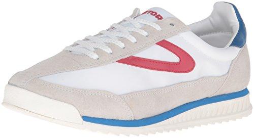 Tretorn Modo Delle Donne Della Scarpa Da Tennis Rawlins3 Off White / Bianco / Rosso / Blu