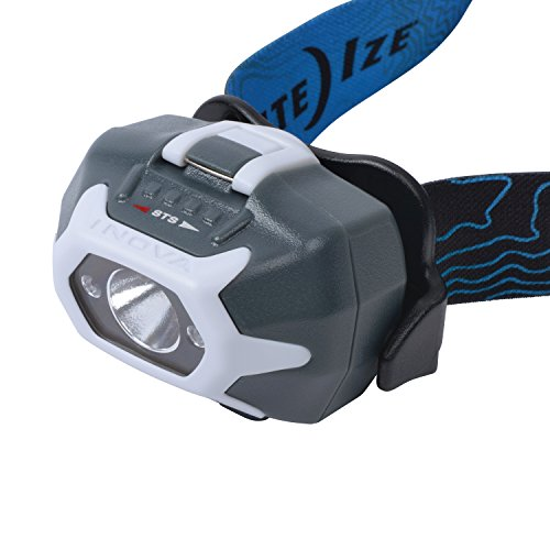 Nite Ize INOVA STS PowerSwitch Dual Power Rechargeable Headlamp, 280 Lumen Headlight with Swipe-to-Shine Technology, USB Recharging, Red and White (Colorado Buffaloes Lamp)
