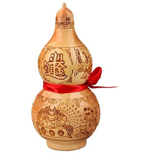 FengShuiYan Feng Shui Peach Wood Mahogany 10.5cm Wu Lou/hu Lu Zhao Cai Jin Bao Bring In Wealth And Treasure