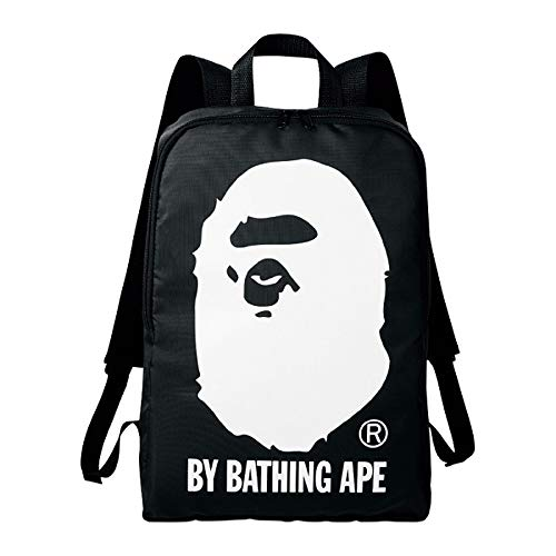 Bape | A Bathing Ape Backpack | Black Color With Printed Ape Logo
