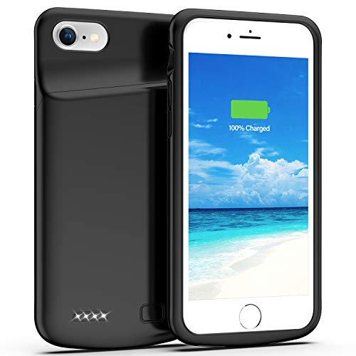 Swaller Battery Case for iPhone 8/7, 4500mAh Charging Case Charger Case for iPhone 8/7 (4.7 inch) (Black)