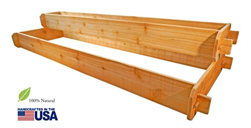 Timberlane Gardens Raised Bed Kit 2 Tiered (1x6 2x6) Western Red Cedar with Mortise and Tenon Joinery 2 Feet x 6 Feet by Timberlane Gardens