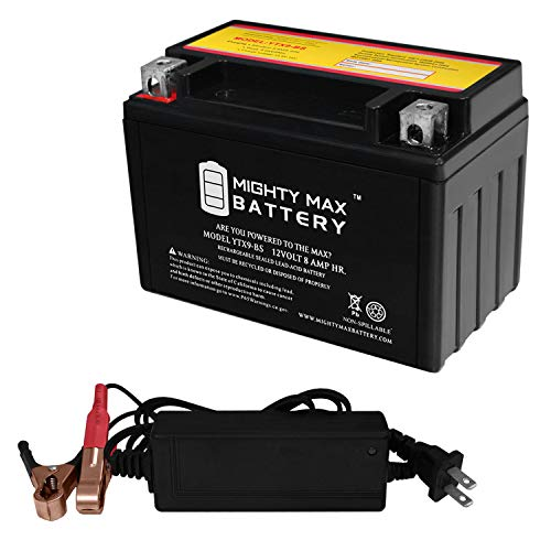 Mighty Max Battery YTX9-BS Replaces PTX9BS Predator Generator 8750 watt + 12V 2A Charger Brand Product