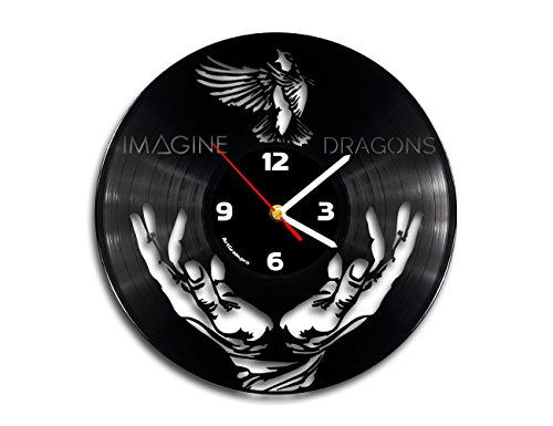 Imagine dragons vinyl record wall clock