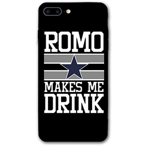 (AFFueldo ROMO Makes Me Drink iPhone 7/8 Plus Case Anti Drop Resistant Bumper Case Black)