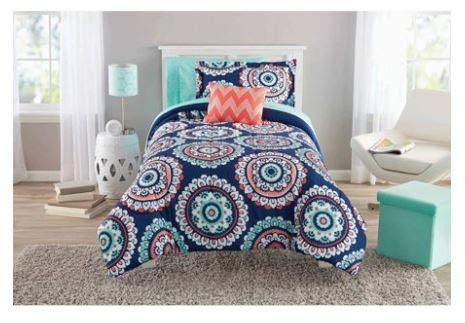(Mainstays Navy Medallion Bed In A Bag Queen)