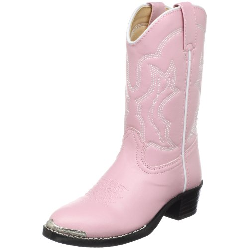 Durango Kids BT858 Lil' 8 Inch,Dusty Pink 'N Chrome,10.5 D US Little Kid (Toddler Pink Cowboy Boots)