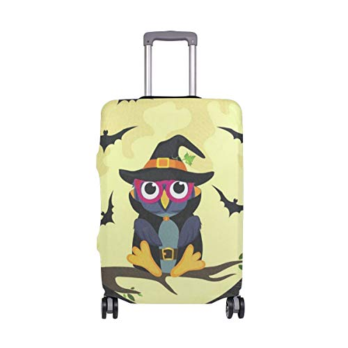 Suitcase Cover Suitcase Halloween Owl In Witch Costume Luggage Cover Travel Case Bag Protector for Kid Girls Luggage Cover Travel Case Bag Protector for Kid Girls -