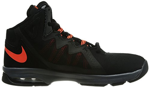 Nike Air Max Stutter Step 2 Black White Youths Trainers Negro/Gris/Naranja