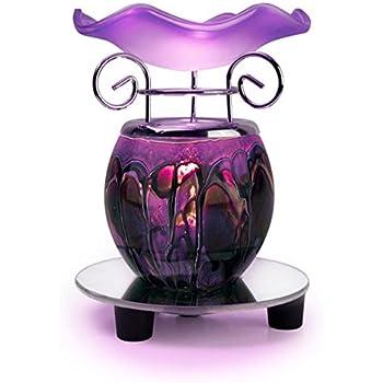 Tomixxx 1 X Glass Marbled Tart or Oil Warmer(Purple)