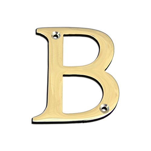 Bulk Hardware BH04278 Solid Brass Polished and Lacquered Letter B, 50 mm, 2 inch ()