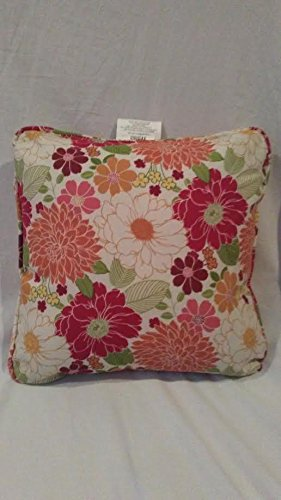 Set of 2 Sorbet floral Linen Patio Pillows, Decorator Pillows, Sorbet Floral Cushions