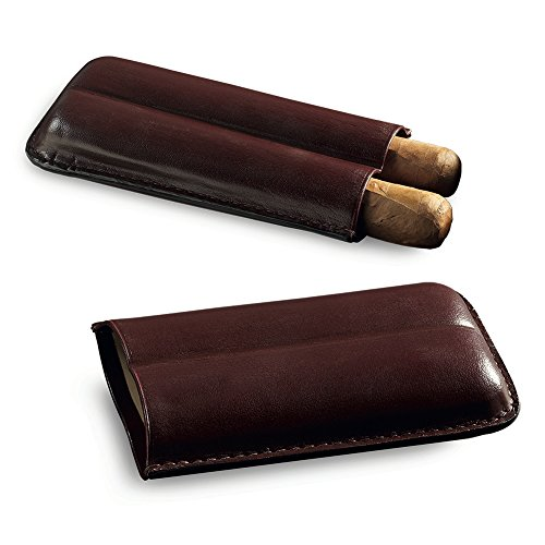Egoist Cigar Case in Premium Leather for 2 Cigars, Cigar Accessoires, Outdoor Smokers - Robusto - Cigar Cases Italian Leather