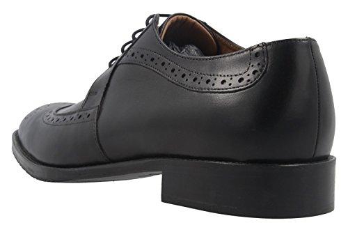 Manz - Zapatos de cordones de Piel Lisa para hombre negro negro