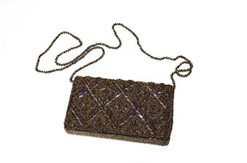 Evening amp;Shining Clutch Short Beaded Sunny Purse Party Crossbody Handmade square Handbag TRnSXx