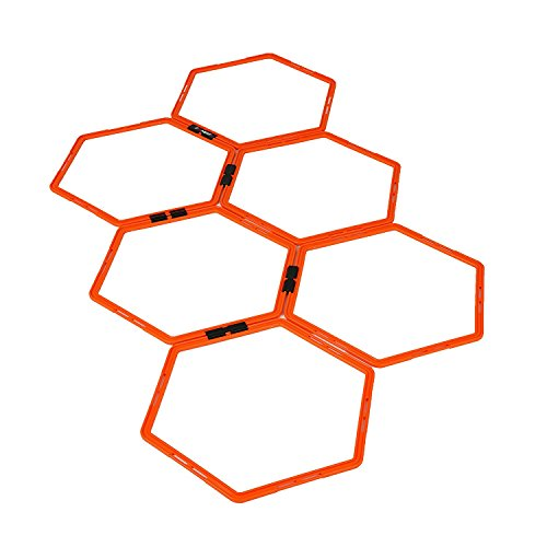 Hexagonal Hex Speed Rings, Agility Rings for Fitness Training by EFITMENT - (Hex Ring)