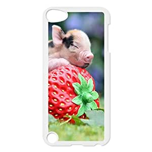 J-LV-F Customized Print Little Pig Pattern Hard Case for iPod Touch 5