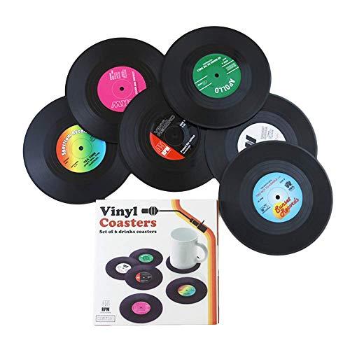 Ashtrays Vinyl Record Coaster Set - Pack of 6 Retro Novelty Drink - Record Elvis Collectors