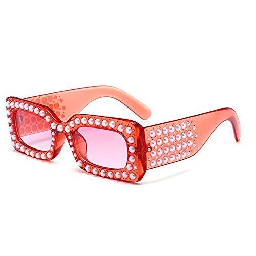 brillants soleil de cristal vacances la lunettes UV designer femmes Petite les forme pour plein Couleur C1 Protection cadre été pour carrée nouveauté plage C4 conduite perle la strass nuances nPYq7w4P