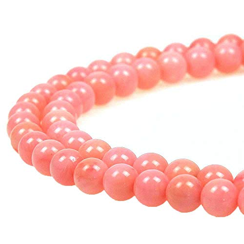 JARTC 8mm Natural Pink Coral Gemstone Round Loose Beads for Jewelry Making