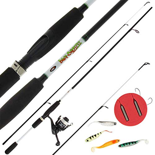 NGT Drop Shot/Drop Shotting 7ft Carbon Coarse Fishing Rod with Reel Preloaded with 10lb Line Drop Shot Rigs