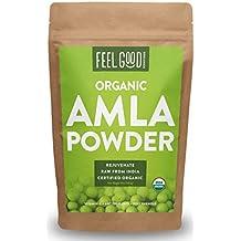 Organic Amla Powder - 16oz Resealable Bag (1lb) - 100% Raw From India - by Feel Good Organics