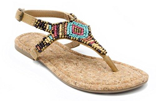multi colored sandals - 8