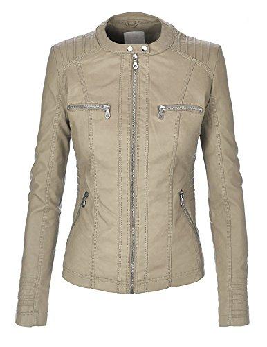 MBJ Womens Faux Leather Jacket