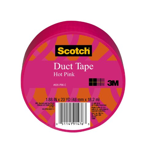 Scotch Duct Tape, Hot Pink, 1.88-Inch by 20-Yard, 6-Pack