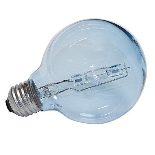 [3 Pk. - GE 43w Globe G25 Reveal Halogen light bulb - 60w equivalent] (60w Reveal Globe)