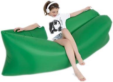 Mad sorrow Sofá Perezoso sofá al Aire Libre sofá Inflable Verde Oscuro portátil Saco de Dormir sofá Cama Plegable